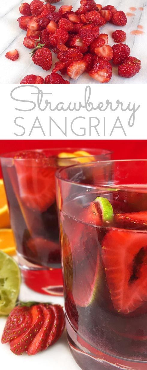 """This lip-smacking Strawberry Sangria Recipe is a crowd-pleaser! Fresh fruit, merlot and a few other secret ingredients make the best sangria """"brew"""" ever!"""