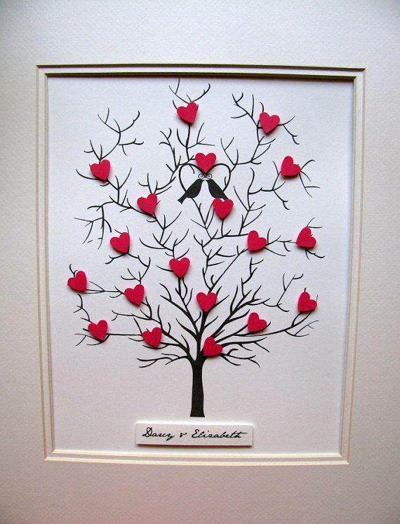 8 x 10 albero dei cuori Mini 3D. Matrimonio di aboundingtreasures
