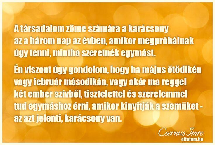 Csernus Imre idézete a karácsonyról.