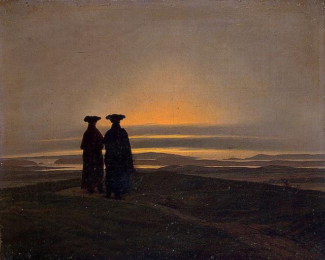 Friedrich, Caspar David (1774-1840) - 1830-35 Sunset (Brothers) - Hermitage by RasMarley, via Flickr