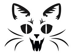 heres a vampire cat pumpkin carving stencil to put you in a scary mood this printable halloween pumpkin carving stencil will put a fright into trick or