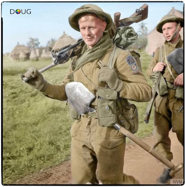 Private Beale, 6th Btn. King's Own Scottish Borderers, Netherlands. 1 November 1944.