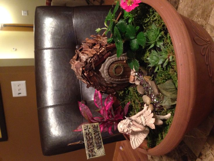 2014 Relay for Life Fairy Garden.  Available during the silent auction at the Monticello Middle School this Friday night.  Make by Kay