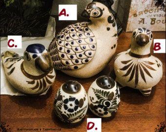 Check out Fok Art Sand POTTERY NETZI Partridge Birds & Salt and Pepper Shaker Set 1980  - Very RARE!! on thriftnstyle