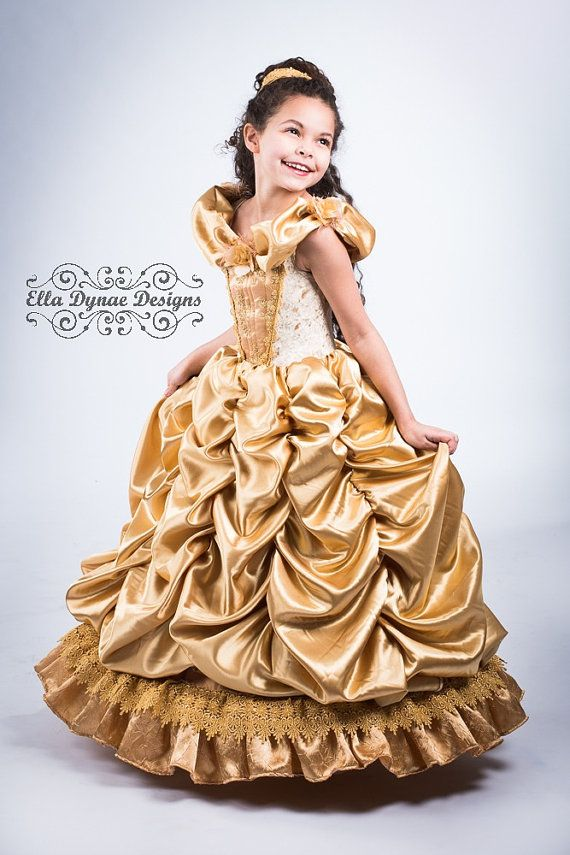 Belle Disney Inspired Princess Gown Costume by EllaDynae on Etsy, $370.00