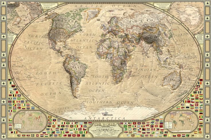 Halcyon Maps | World Political Map – Tanezrouft