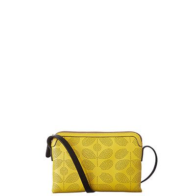 Orla Kiely | UK | bags | Mainline bags | Sixties Stem Punched Leather Poppy Bag (16SBSSP085) | yellow