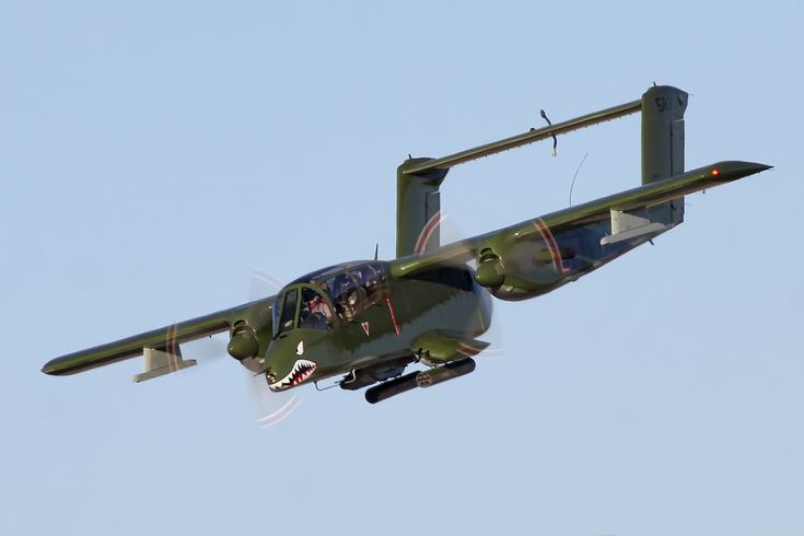 North American Rockwell OV-10 Bronco in USMC markings.