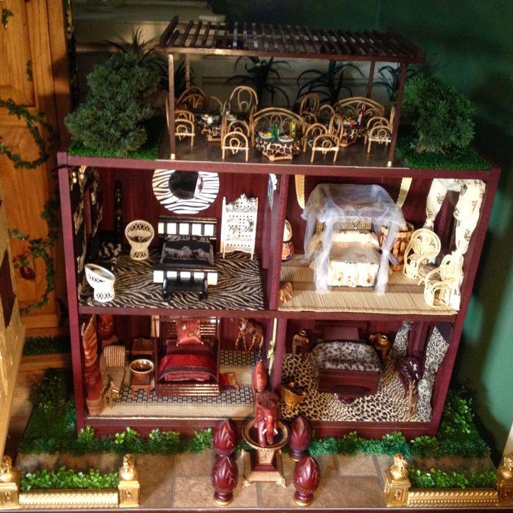 Africa themed dollhouse