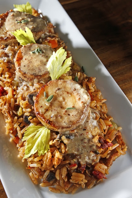 """Vegetarian Paleo: Dirty Fried Rice with Mushroom """"Scallops"""" and Cre..."""