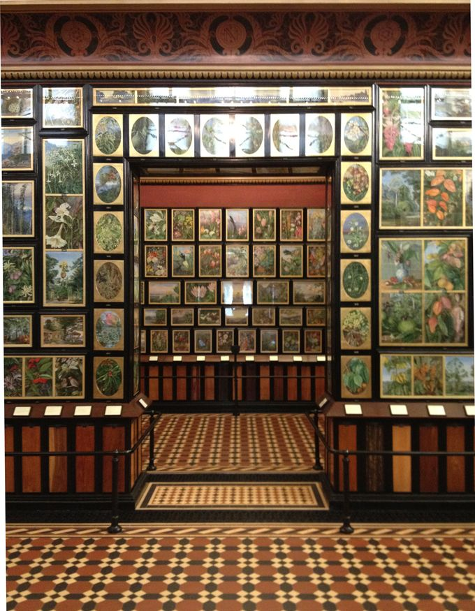 Marianne North Gallery, Kew Gardens...crammed full of 832 of her works.She bequested her works to Kew along with the finance for the building.The gallery remains today as she intended it; her bequest stipulated it could not be changed.