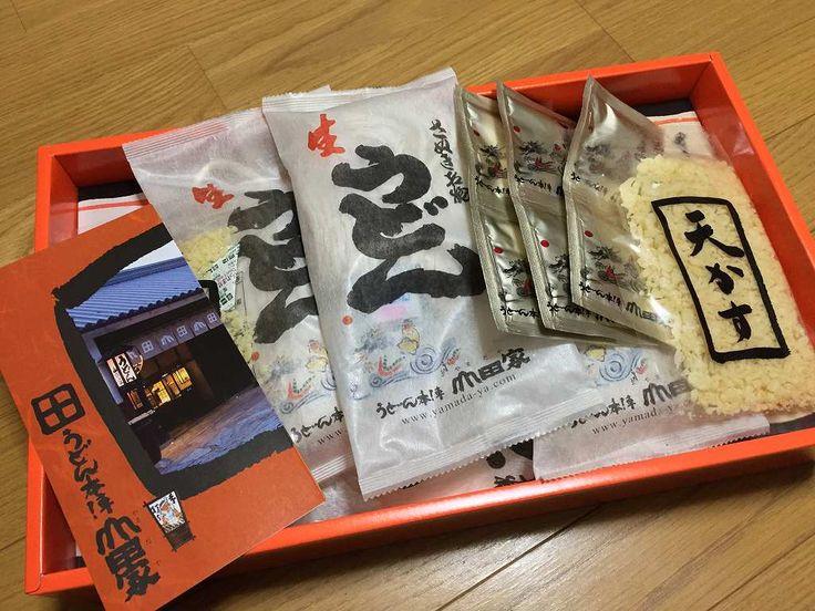 時節柄シリーズです 讃岐乃国、香川より さぬき名物「うどん本陣山田家」の手打ちうどんが届きました お気遣い感謝申し上げます、有難う御座います この場をお借りして御礼申し上げます 2015/12/17 Ooe-office,atelier