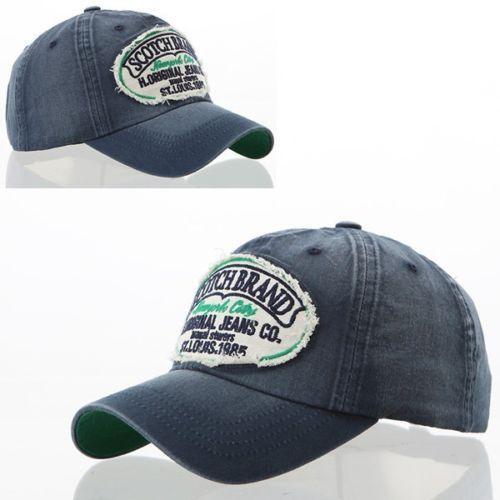 Men-Women-Vintage-Look-Distressed-Retro-Baseball-Ball-Cap-Hat-Scotch-6-Colors $10.99