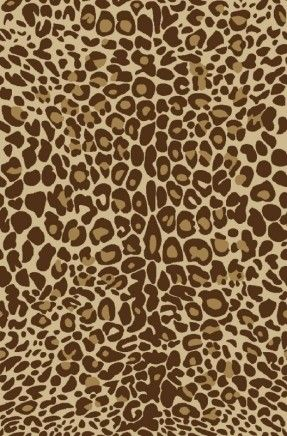 Kings Court Gold Leopard Print Area Rug