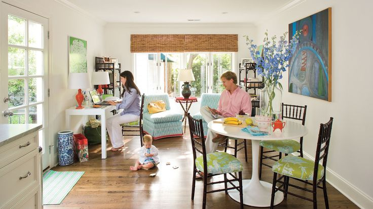 Tradition with a Colorful Twist | Gather inspiration from the fresh, inspiring palette of interior designer Megan Young's North Carolina home.