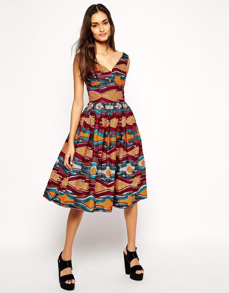 Sika X Asos – Kleid mit Bardot-Ausschnitt