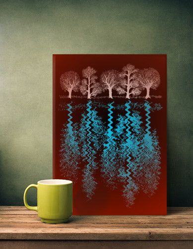'Trees' print on metal @displate  #ripples #water #red #white #blue #silhouette #nature #reflections #tree #lake #mirror #life #art #artist #nagohnala #artgaragefinland #hogan #alanhogan #displate #metalprints #homedecor #housestyle #elledecor #housebeautiful #wallart #veranda #countryliving #romantichomes #metropolitanhome #bhg