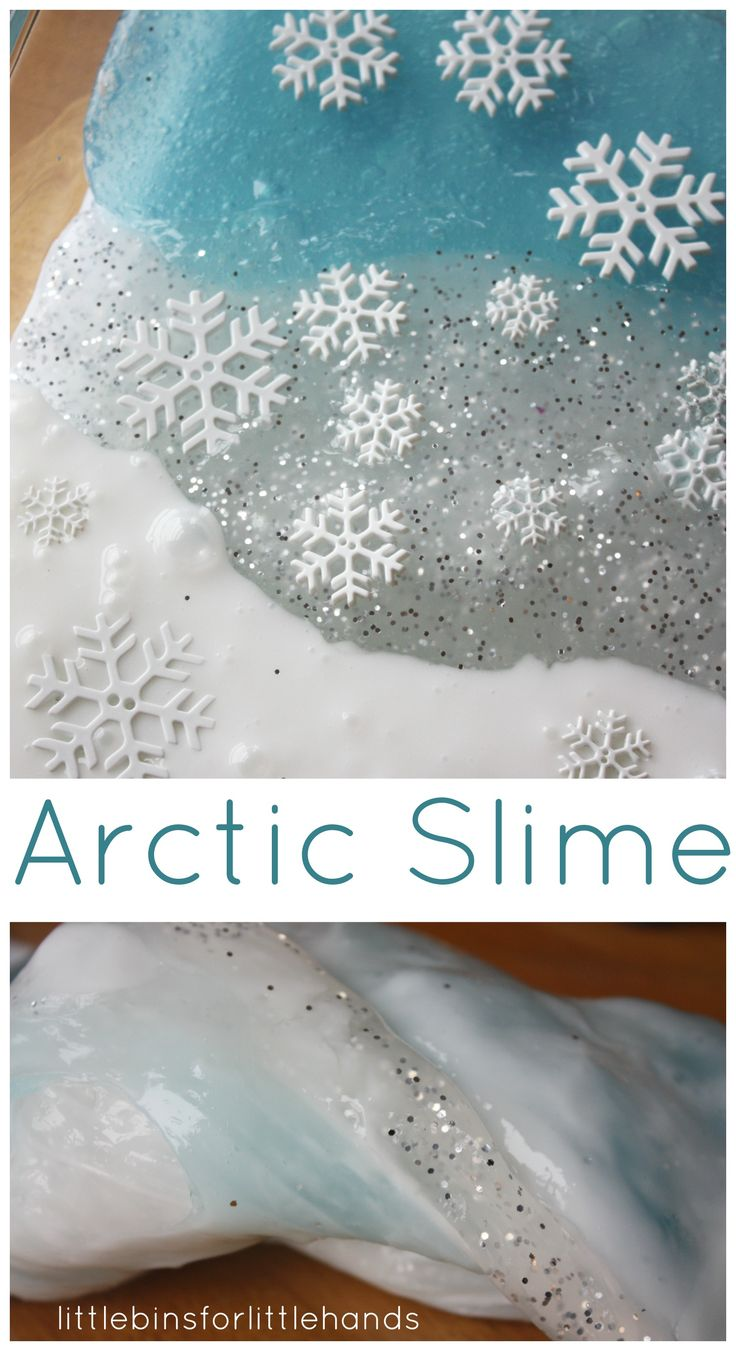 Arctic Slime Winter Sensory Play Homemade slime recipe