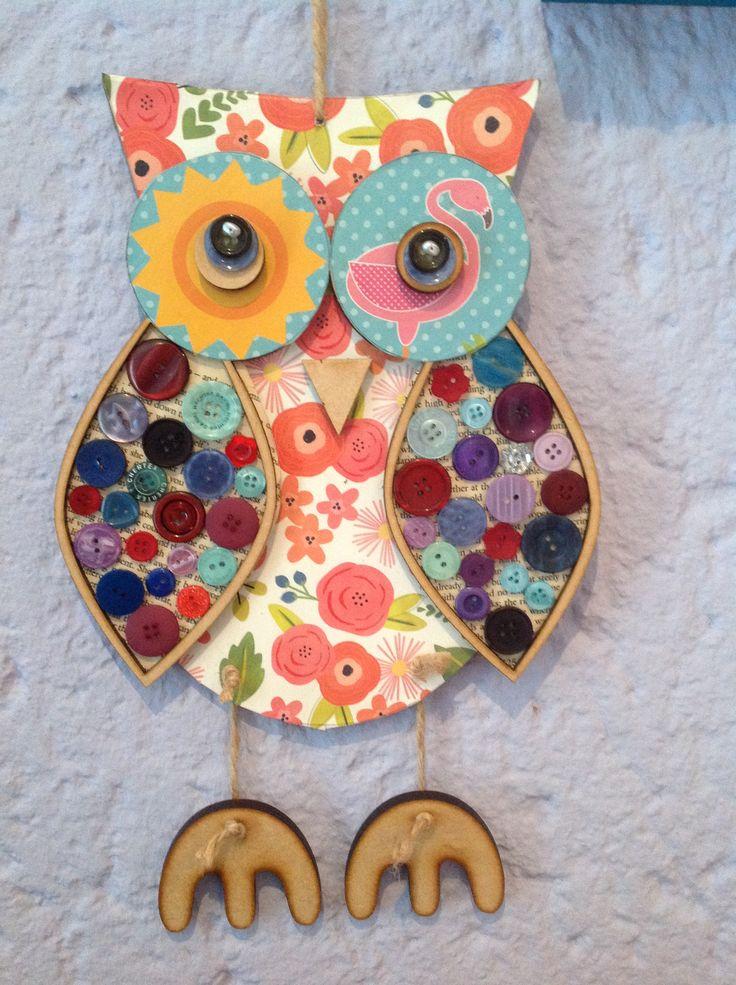 Tina's mixed media owls @heather8532