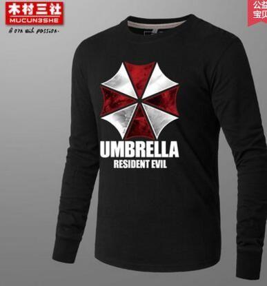 (HD35)Autumn Winter Umbrella Resident Evil Sweatershirt Casual Hoodie Men Cosplay Costume Mens Game Hoodies