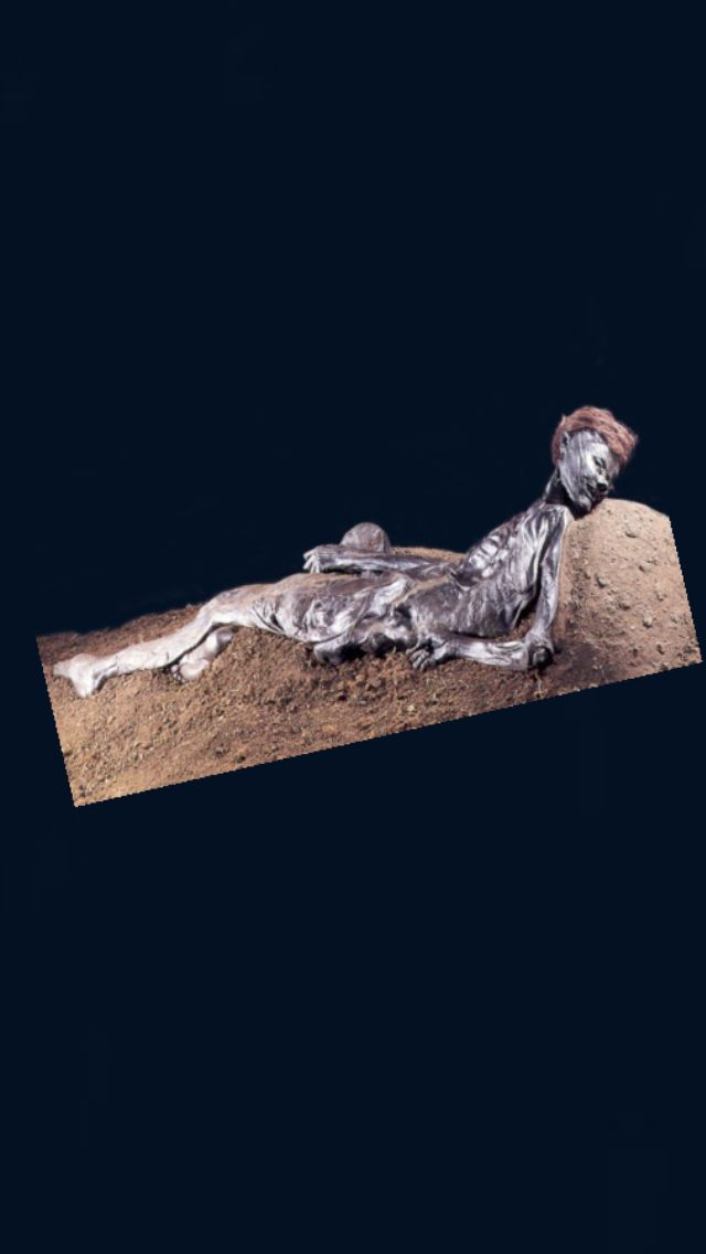 "The Graubelle Man: it's not a strange occurrence for mummified bodies to be found in bogs, but his body, known as ""The Graubelle Man"" is a bit unique. Not only is he amazingly well preserved with his hair and fingernails, still intact, it is possible to reconstruct his demise from the information found on and around his body. Judging from a large wound wrapping around his neck from ear-to-ear, it seems he was sacrificed - probably in an attempt to turn a better harvest."