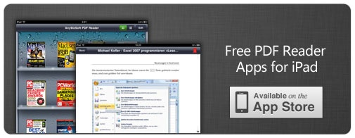 The Ipad is an excellent device for reading your favorite PDF Ebooks and in this article we have collected 6 Free PDF Reader Apps.