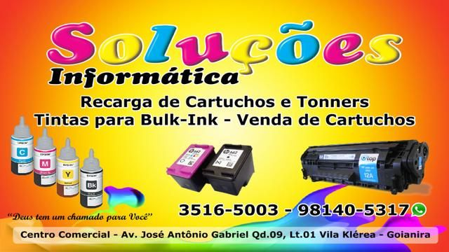 Eu recomendo Soluções Informática Recarga de Cartuchos- , #None, #None, #None