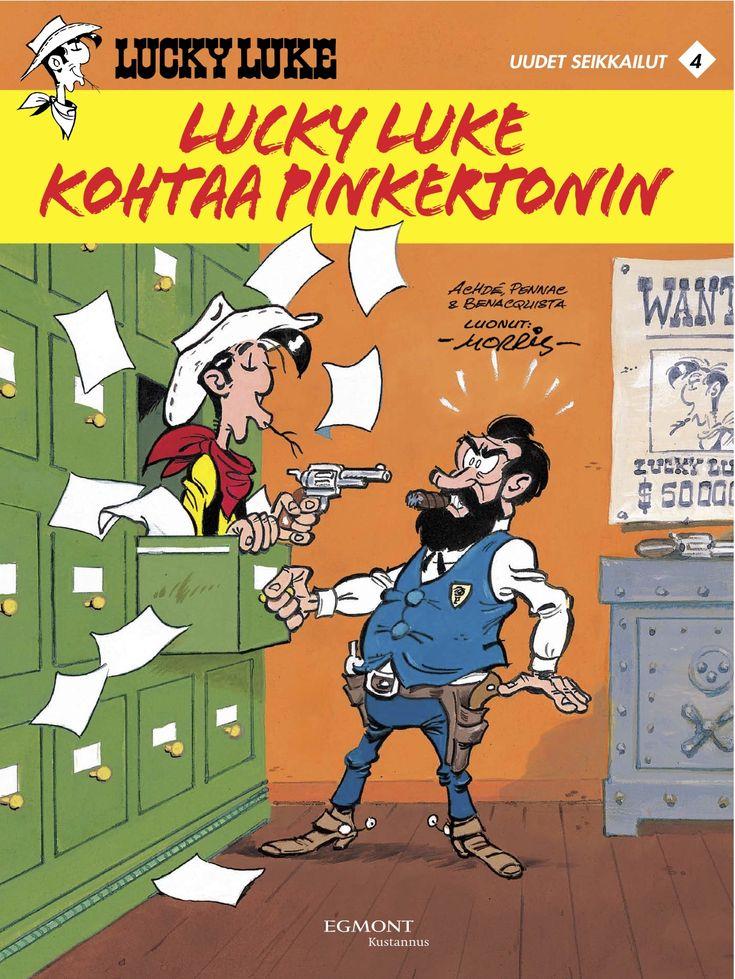 Lucky Luke: uudet seikkailut 4 - Lucky Luke kohtaa Pinkertonin. #egmont #sarjakuva #sarjis