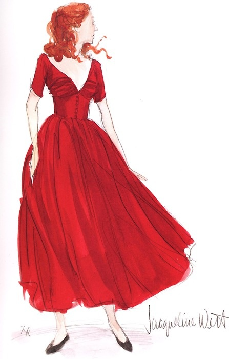 Red dress. Go Red for Women. February 3, 2012