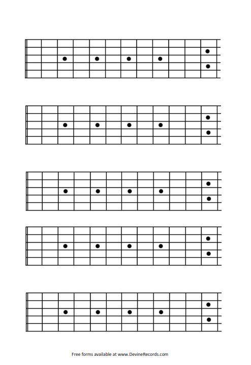 Free Blank Guitar Tab Paper - u0421u0430u0439u0442 kapabermo!
