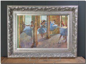 Ballet oefeningen reproductie schilderij Degas http://www.mypainting.nl/detail/5015253-ballet-oefeningen-reproductie-schilderij-degas