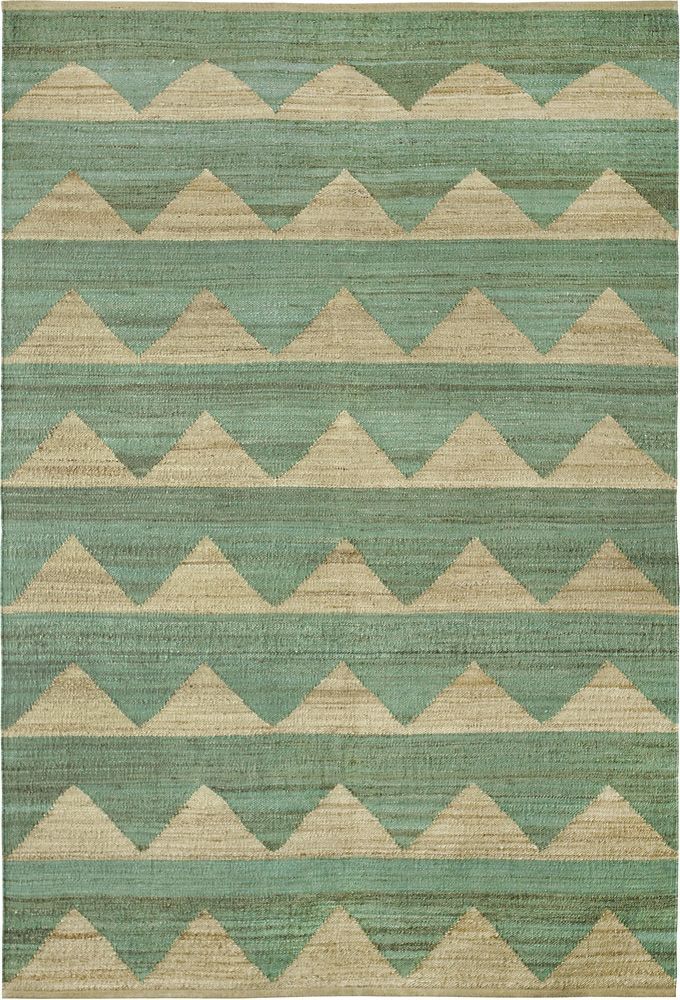Hemp rug Arctic Dark Mint by Brita Sweden