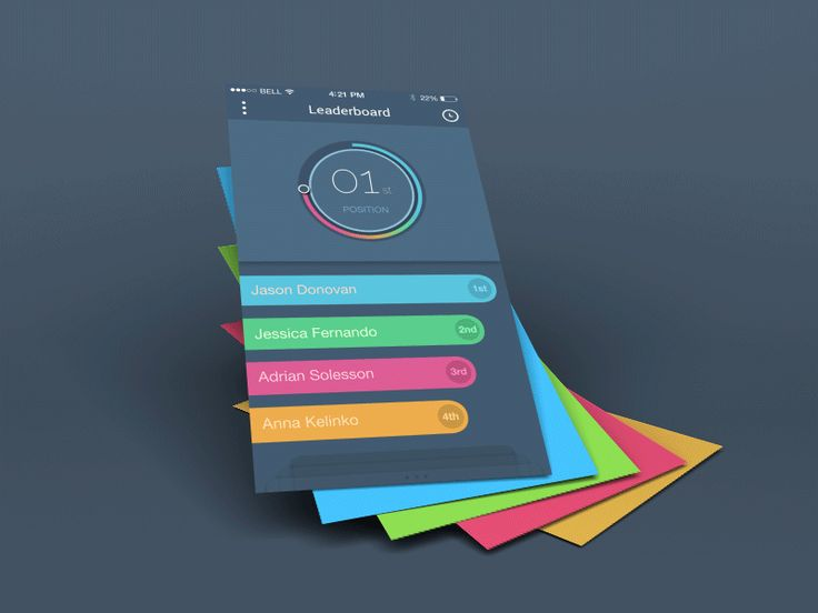 Beautiful - colours, animation, flat UI design #UI #design #GIF Designed by Balraj Chana