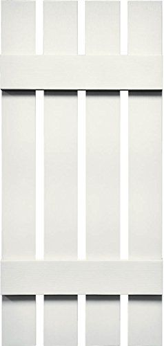 Mid America VSBB162532BW Spaced Board  Batten Four Board Vinyl Shutter 32 x 1625 Bright White * More info could be found at the image url.