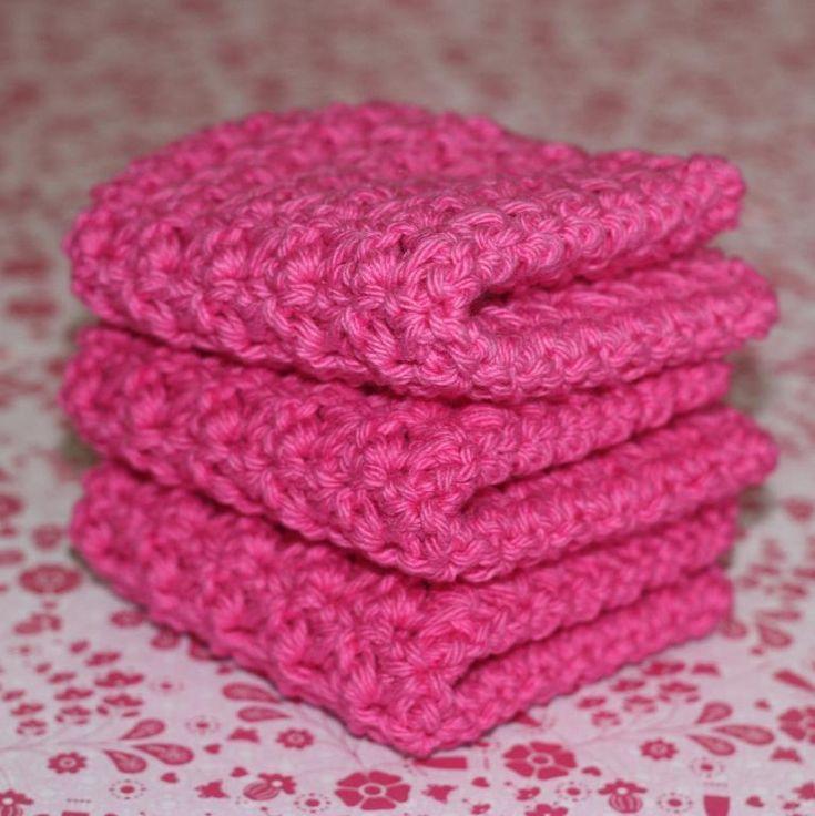 Cotton Thread Crochet Wash Cloth Pattern   Spa Crochet Washcloths set of 3 - Knitting Patterns and Crochet