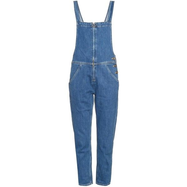 M.i.h Jeans Phalle denim dungarees ($170) ❤ liked on Polyvore featuring jumpsuits, overalls, pants, blue overalls, denim overalls, denim bib overalls, denim dungaree and overalls jumpsuit