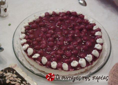 Cheesecake με βύσσινα #sintagespareas