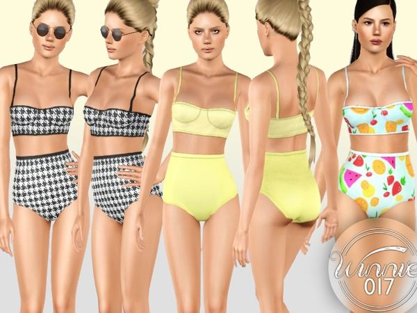 Retro Bikini by winnie017 - Sims 3 Downloads CC Caboodle