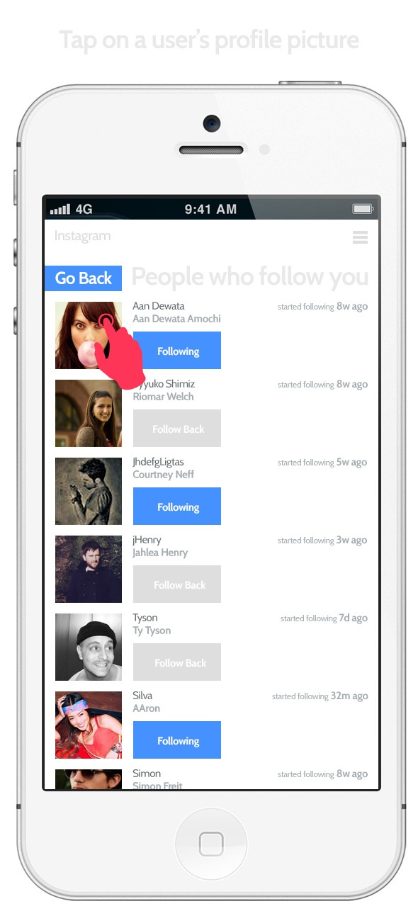 Instagram Redesign Concept by Shadman Ahmed, via Behance