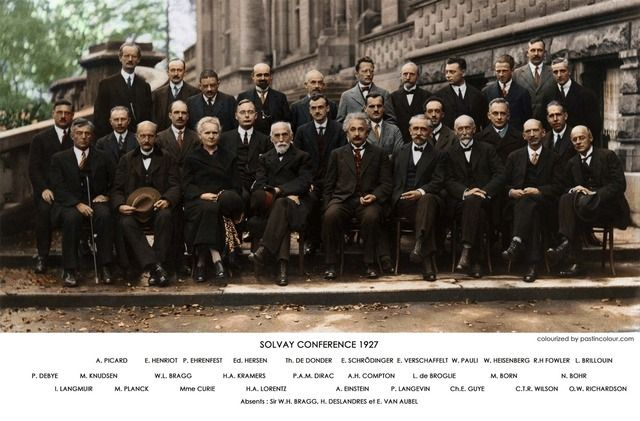 Solvay Conference 1927 - 23 Iconic Black and White Photographs Realistically Colorized and Restored