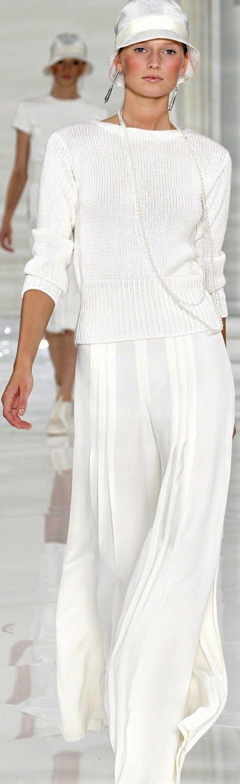 CASHMERE LOVER: WHITE SIMPLICITY...Ralph Lauren