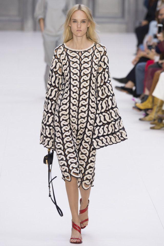 Chloé, модные тенденции женской одежды 2017, вязаное платье мода