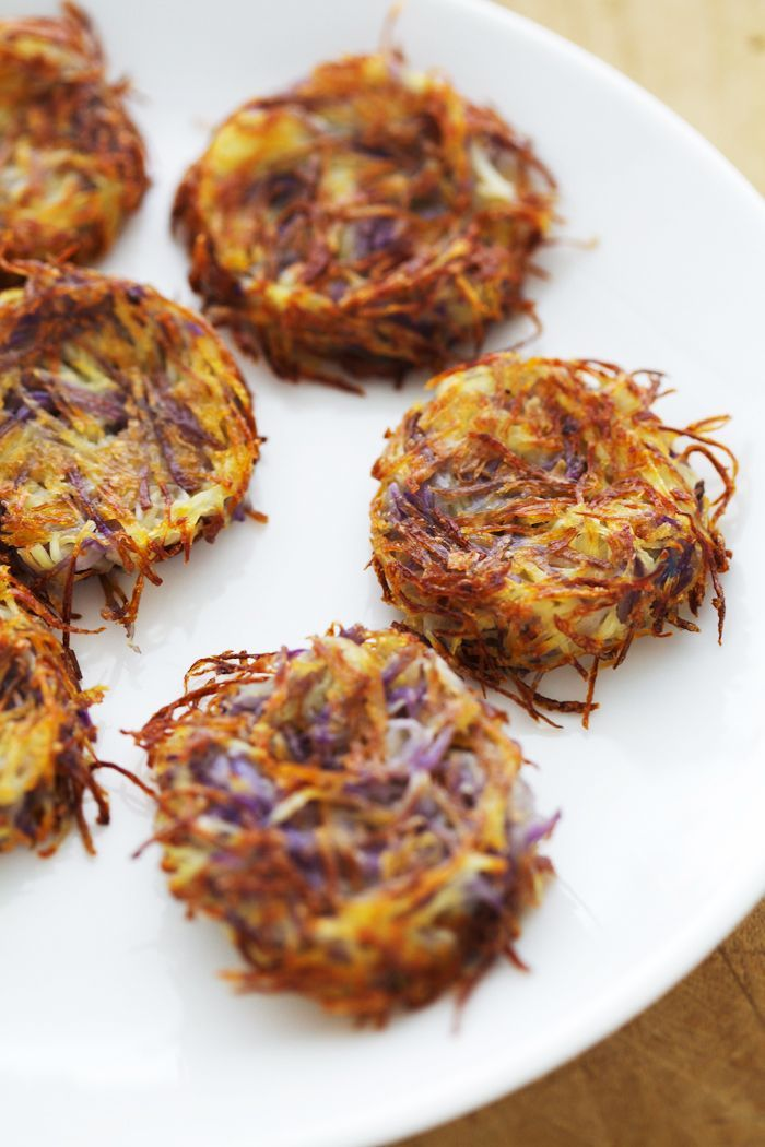 Baked latkes with beetroot and avocado salad. Russian recipes by Golubka Kitchen