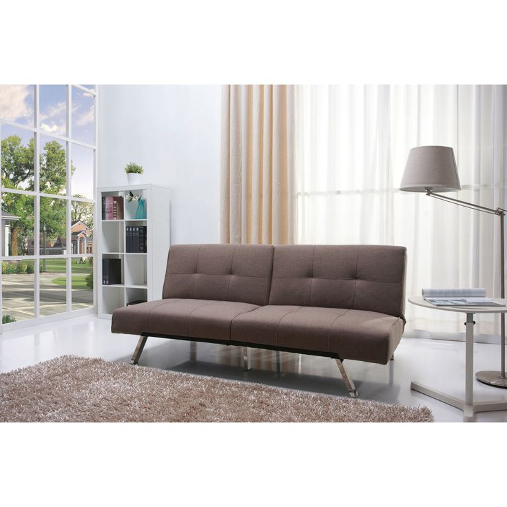 Jacksonville Mocha Fabric Futon Sofa Bed Com Ping The Best Deals On