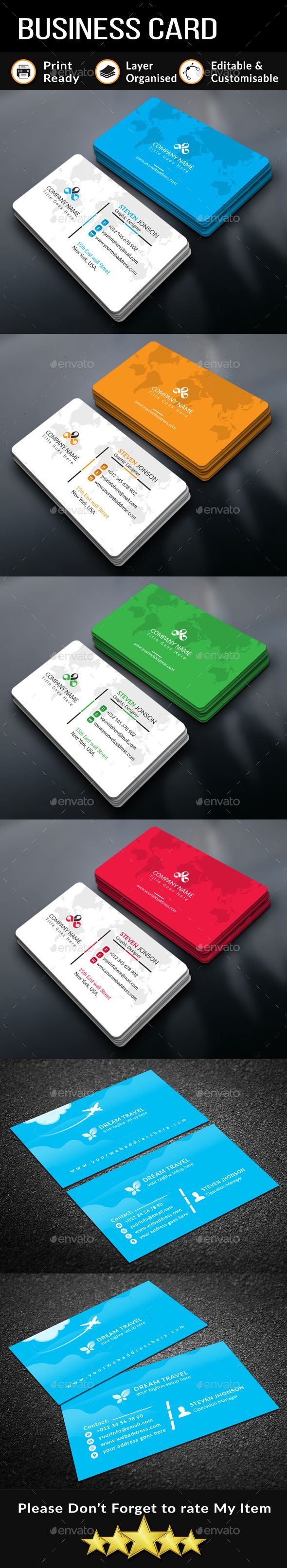 #Business #Card Bundle - Business Cards Print Templates