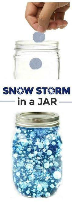 Snow Storm in a Jar
