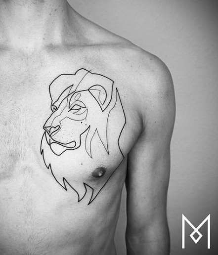 Tattoo Lion Line Style 39+ Ideas For 2019