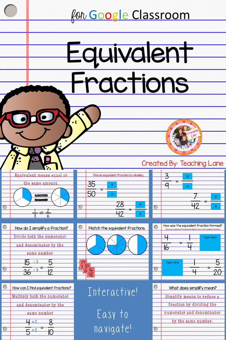 Equivalent Fractions - This fractions activity is made especially for the digital classroom!