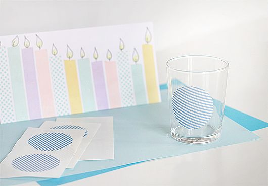 Crafty DIY~Washi Tape Birthday Candles and Glass