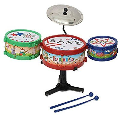[Free Shipping] 4pcs Mini Children Drum Kit Set Musical Instruments Band Toy Bass Gifts // 4pcs mini-hijos batería establecen instrumentos graves regalos de juguetes banda musicales